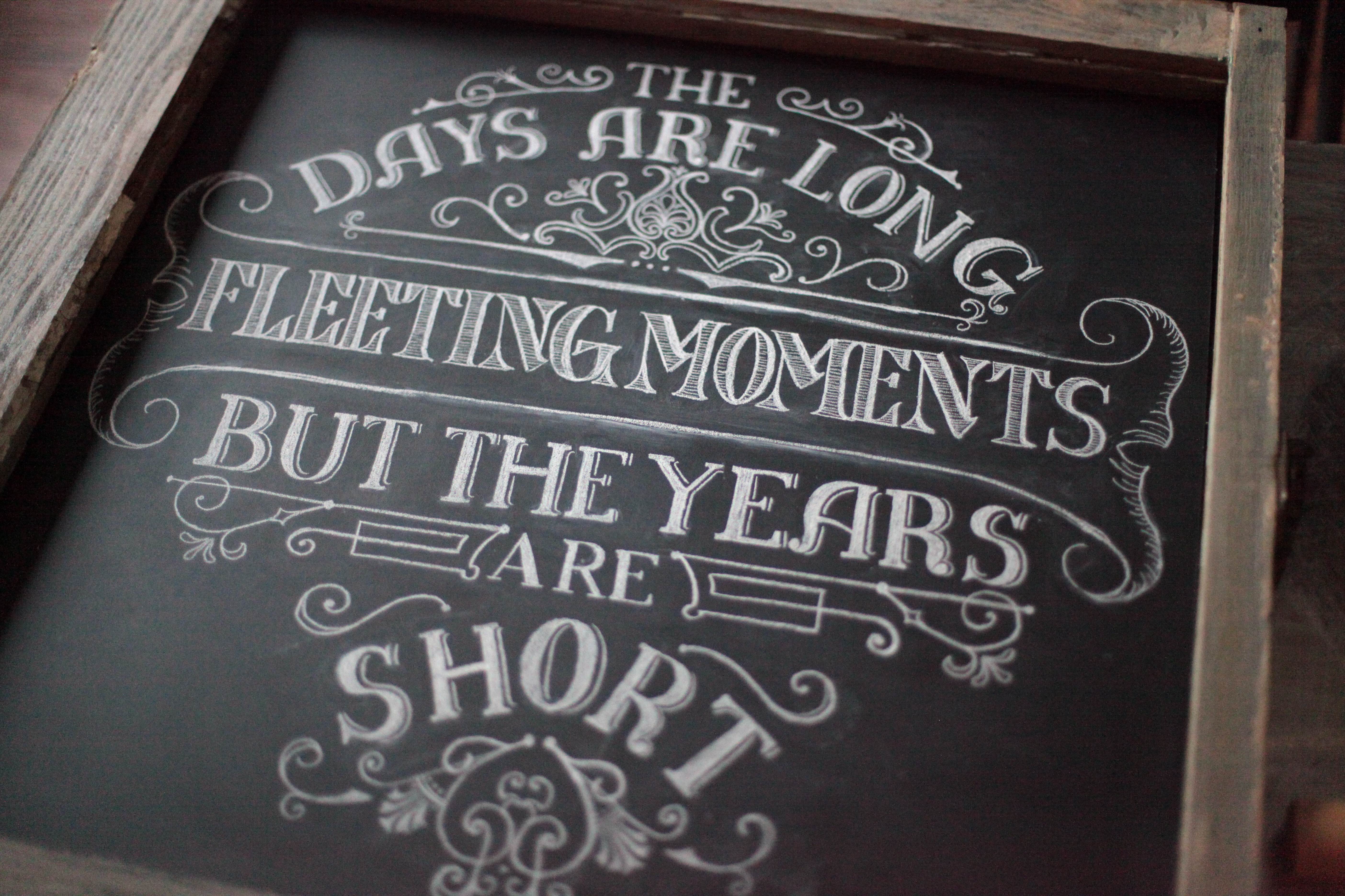 Fleeting Moments Chalkboard Art By Sarah Rowan Callie Anna Chalk Shoppe